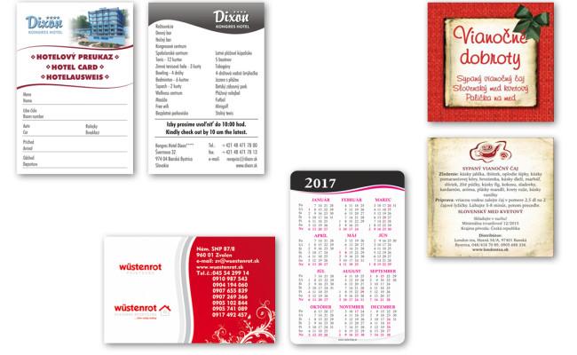 Výroba kartičiek, kalendárikov a vysačiek